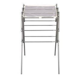 Expandable Indoor Clothes Laundry Drying Rack in Silver Metal