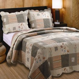 King size Southwest Floral Quilt Set with Shams 100% Cotton