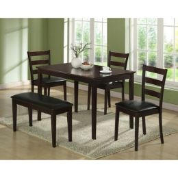 5-Piece Dining Set in Cappuccino Finish